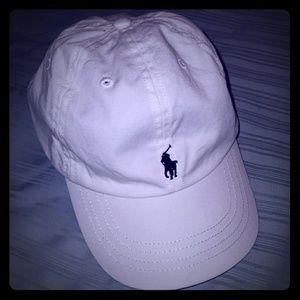Boys Polo Ralph Lauren White Cap Hat